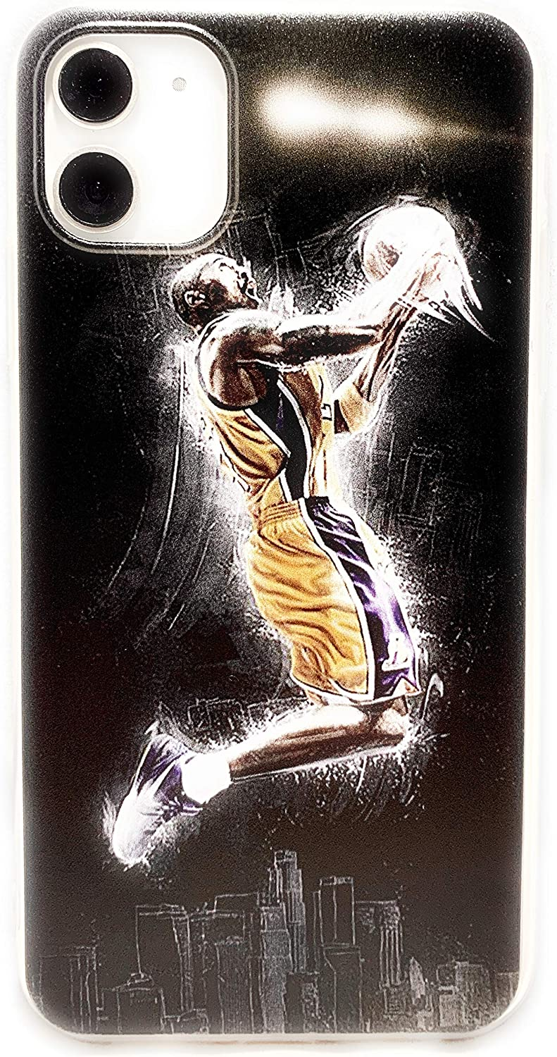 ECHC Soft TPU Basketball Case with Your Favorite Past and Present Players Compatible with iPhone Models (Bryant Reverse, iPhone 11)