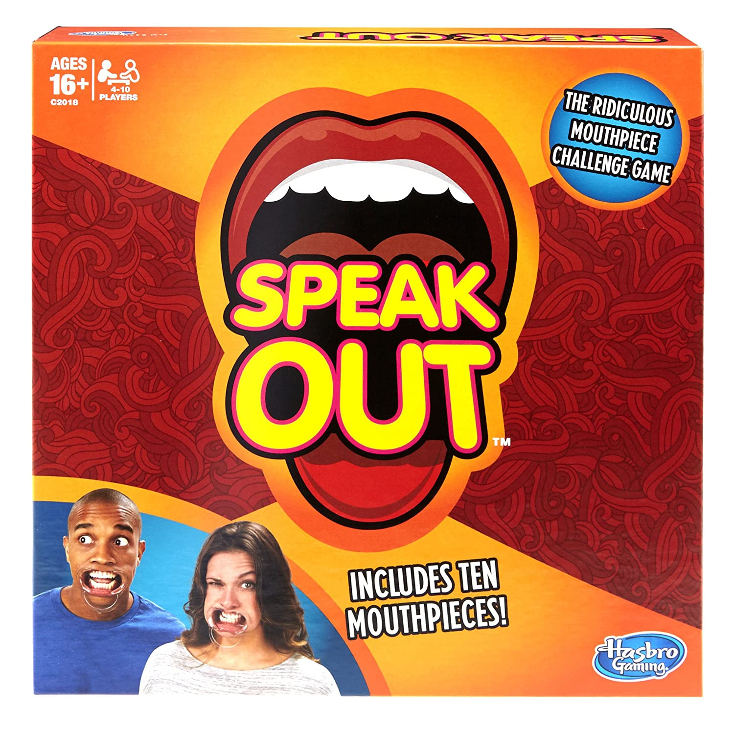 Speak Out Game 2017, English (with 10 Mouthpieces) Hasbro C2018079