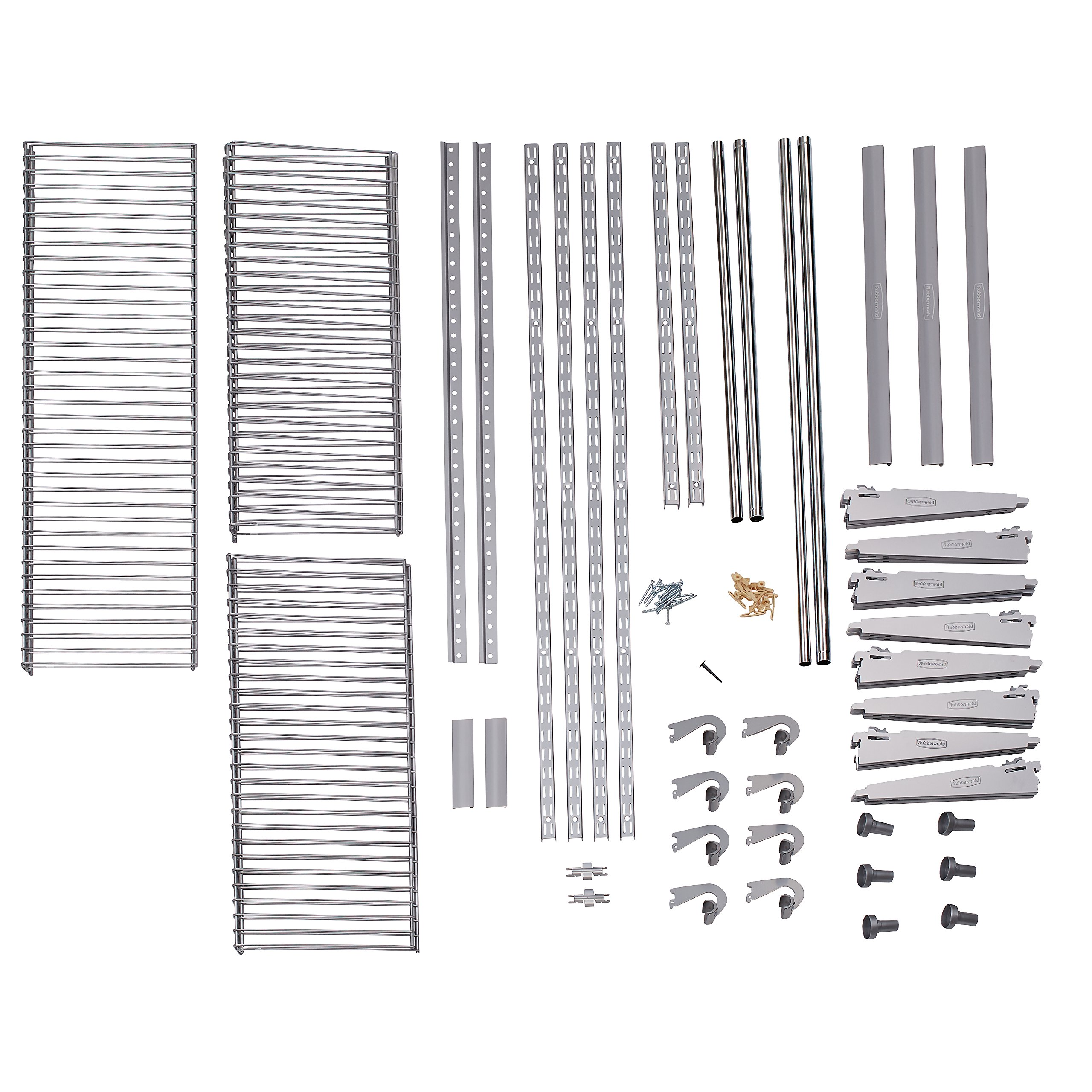 Rubbermaid Configurations 3H8800 3- to 6-Foot Deluxe Custom Closet Kit by Rubbermaid