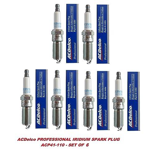 ACDelco 41 – 110 OEM gm 12621258 profesional Iridium Spark Plug – juego ...