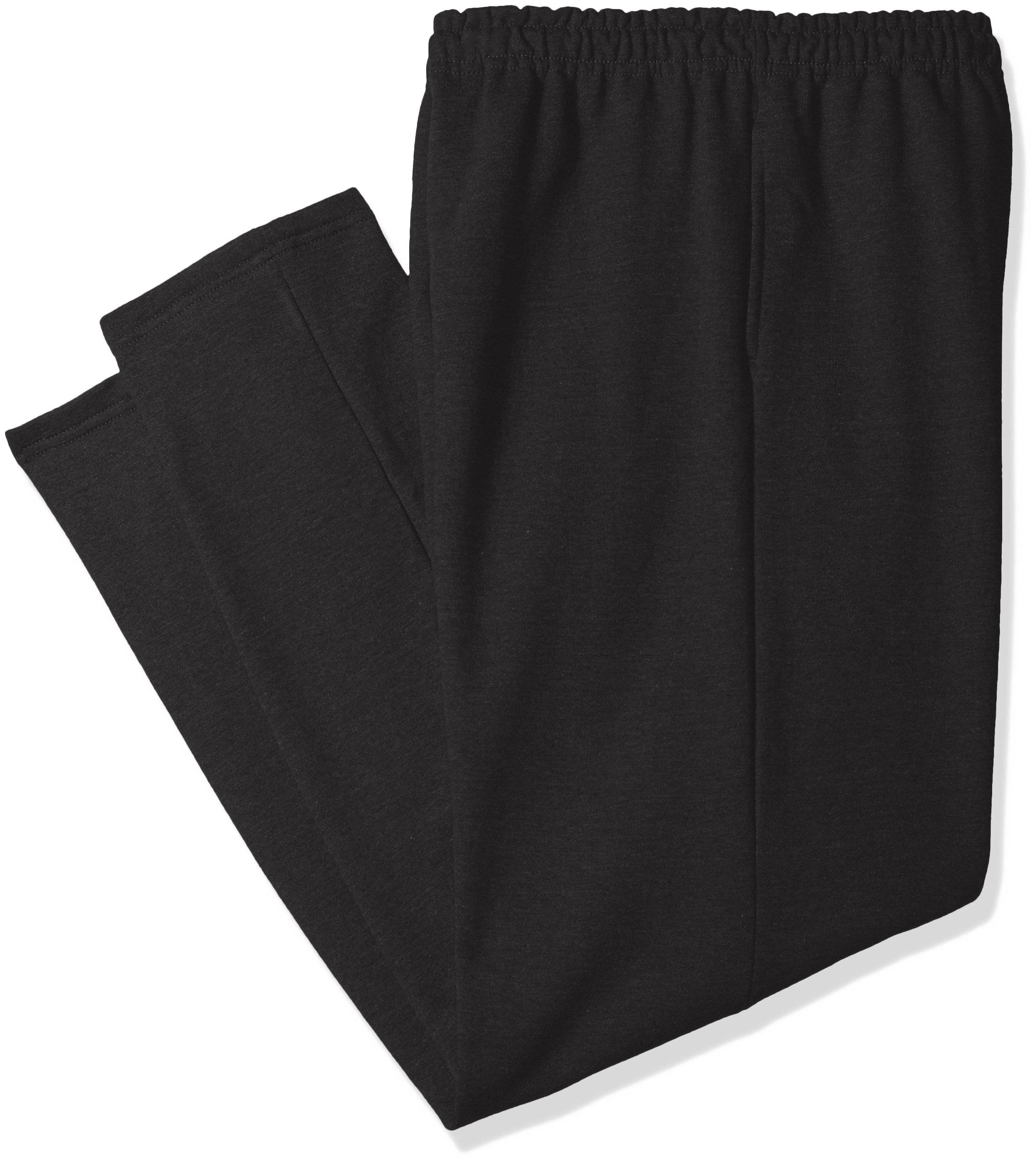 Gildan Men's Big and Tall Fleece Open Bottom Pocketed Pant, Black, XX-Large by Gildan