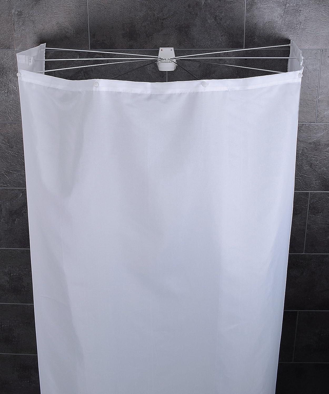 Ridder 58301 350 Duschspinne, Duschfaltkabine, Ombrella Mit  Textilduschvorhang, Weiß: Amazon.de: Küche U0026 Haushalt