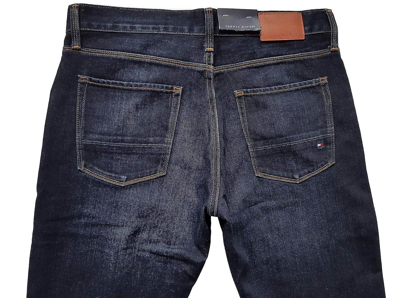 9fd975f2 Tommy Hilfiger Jeans Bleecker Slim Fit Dark Rinse Mens Waist 32