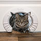 Built in Pet Door for Medium and Large Cats Fits Interior Hollow Core Or Solid Wood Doors Template, Self Drilling Screws…