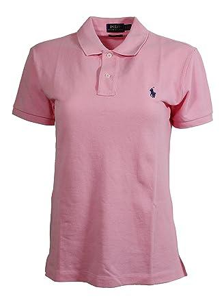 Polo Ralph Lauren Women\u0027s Classic Fit Mesh Polo Shirt (X-Large, Hrtg Pink