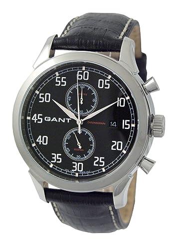 Gant Reloj Cronógrafo para Hombre de Cuarzo con Correa en Cuero W10131: Amazon.es: Relojes