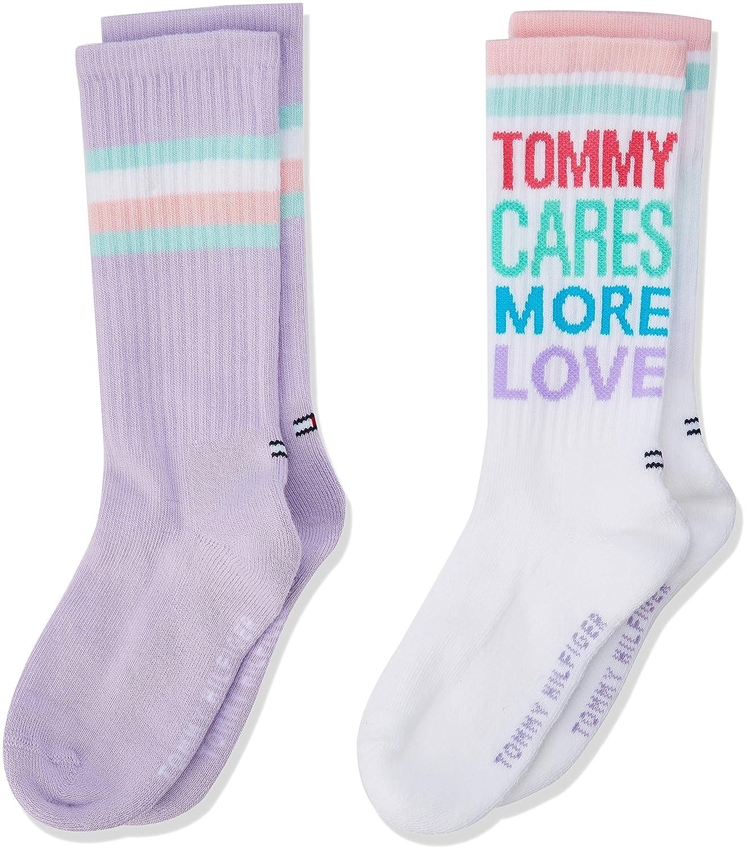 Tommy Hilfiger Calcetines para Ni/ñas, Pack de 2