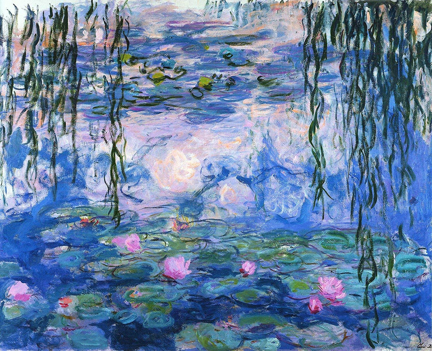 Tallenge - Water Lilies by Claude Monet - XS Size Rolled Art Paper Print(9 X 12 inches) -Multi-Color: Amazon.in: Home & Kitchen