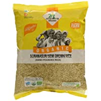 24 Mantra Organic Sonamasuri Handpounded Raw Semi Brown Rice, 1kg