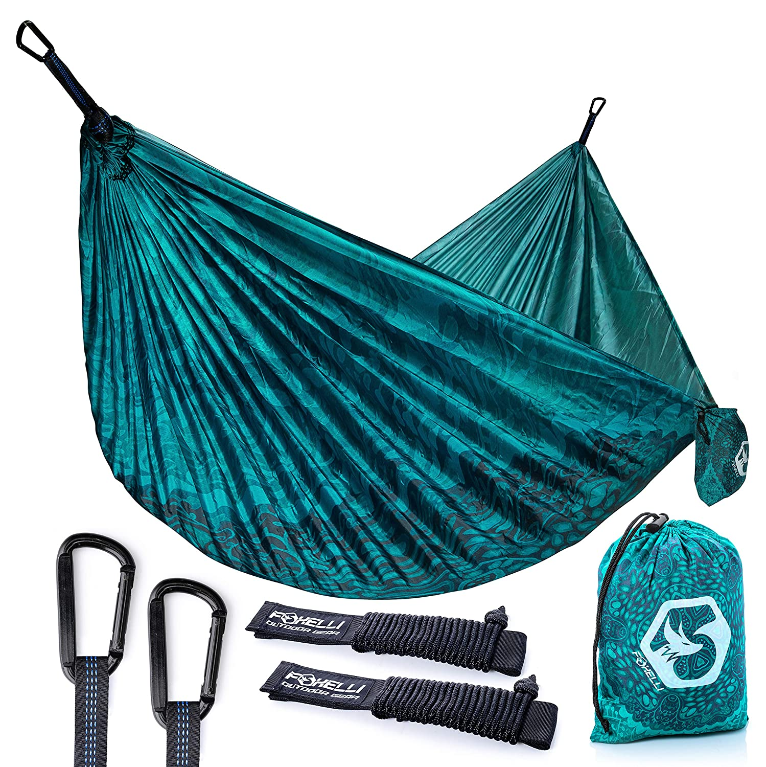 """OUTDRSY Portable Camping Hammock with Tree Straps Double Hammock 118/"""" x 78/"""""""