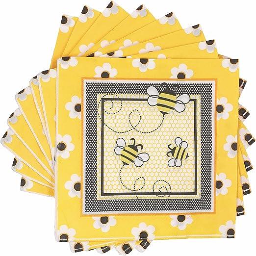 Amazon.com: WallyE - Servilletas de abeja para fiesta de ...