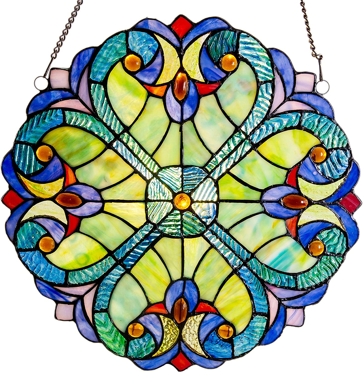 The Flash stained glass sun catcher