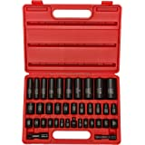 "Neiko 02443A Complete 3/8"" and 1/2"" Drive Impact Socket Set, 38 Piece 