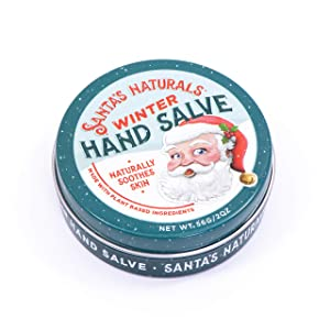 Santa's Naturals Winter Hand Salve | Natural Ingredients: Extra Virgin Olive Oil, Beeswax, Cocoa Seed Butter | 2.0oz