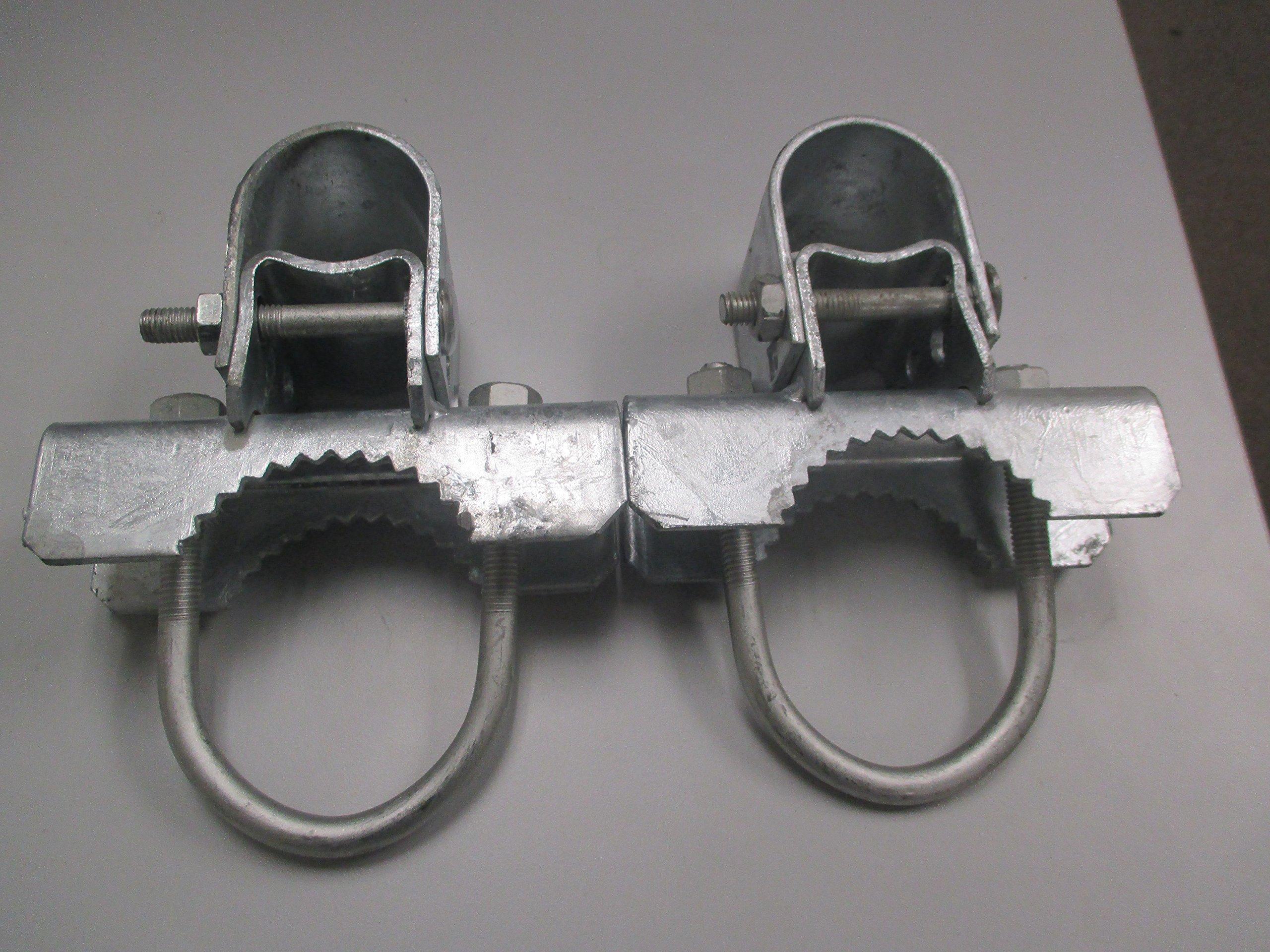 Pressed Steel Industrial Griptite Bulldog Hinge for Chain Link Gate - (2 Sets Pack) (2-7/8'')