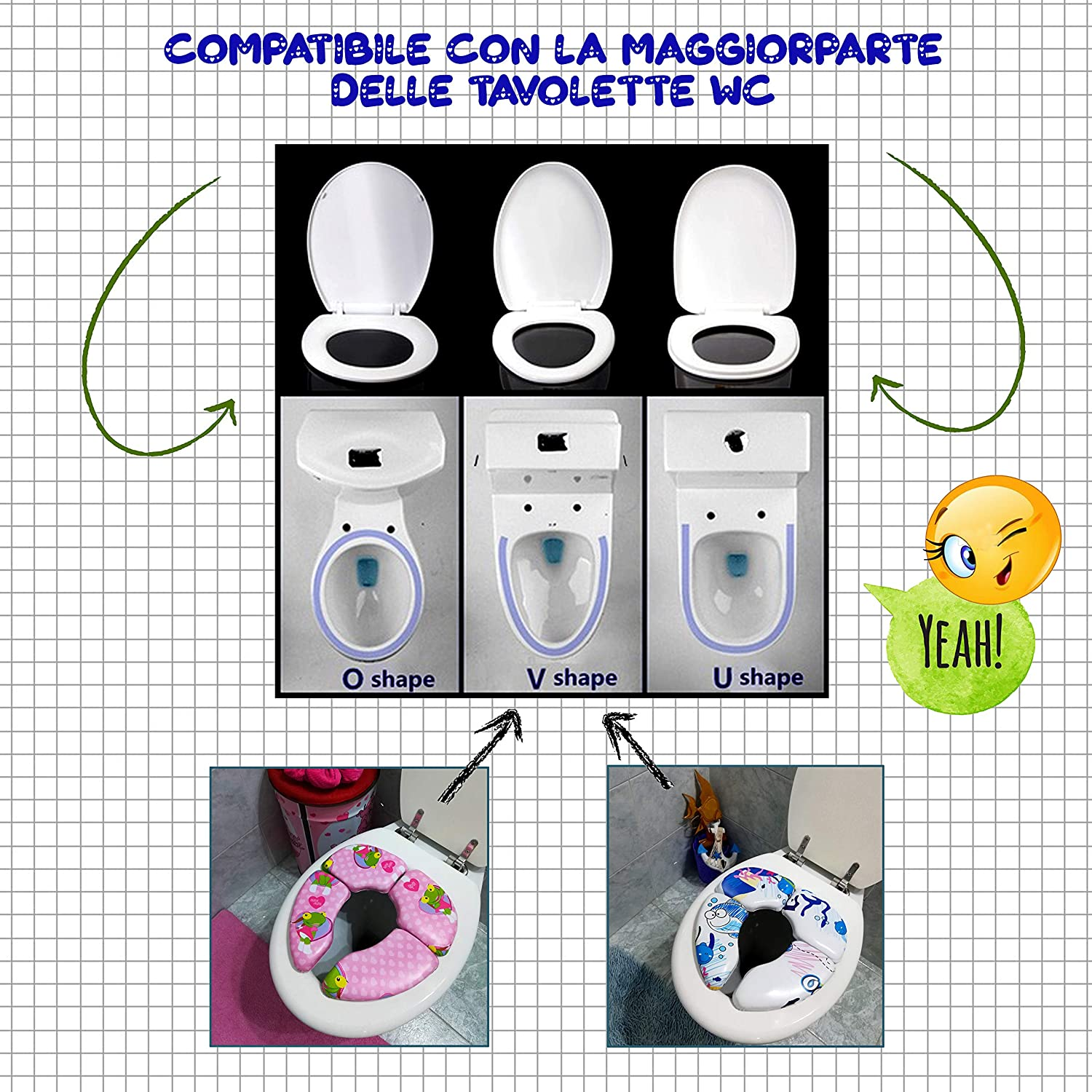Padded and Foldable Portable Potty Toddler Toilet Seat Potty Training