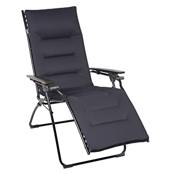 Entzuckend Amazon.com : Lafuma Evolution Air Comfort Zero Gravity Chair, Black Steel  Frame, Taupe : Garden U0026 Outdoor