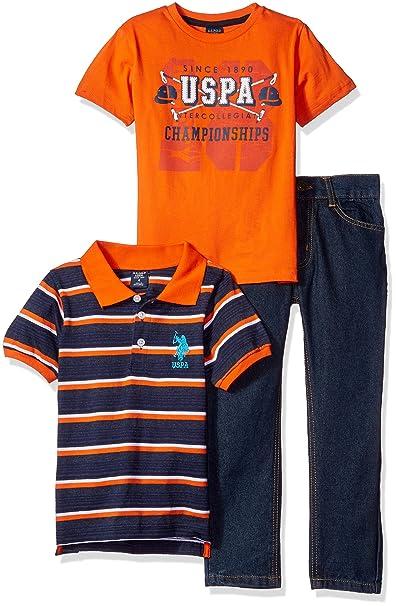 Amazon.com: u.s. polo assn. Boys 3 piezas Juego de camisa ...