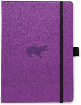 Filofax Pocket Pen Holder Black with Purple Pen for Notebook