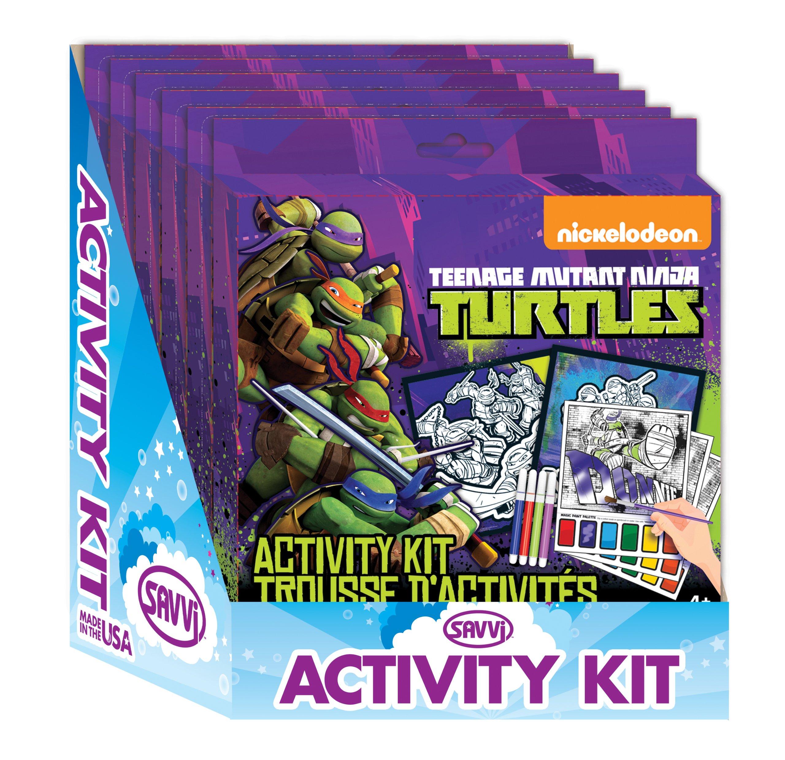 Savvi Teenage Mutant Ninja Turtles Coloring Activity Kit (6-Pack)