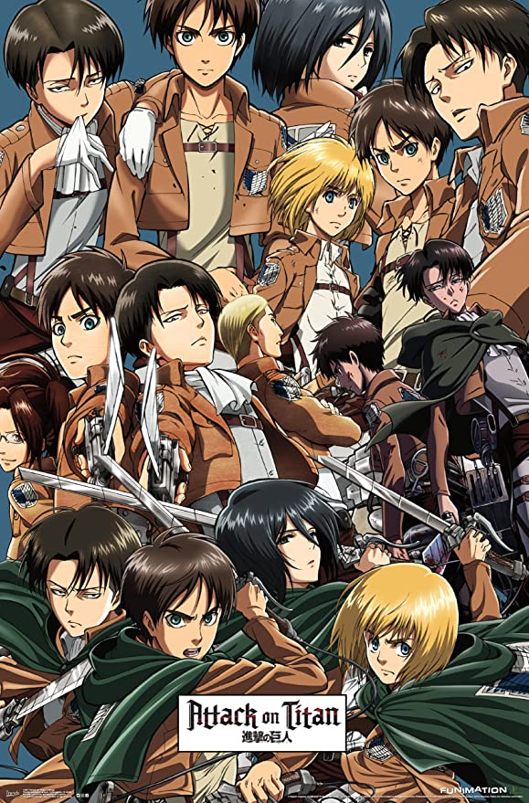 Trends International Rp14037 Attack On Titan Collage Wall Poster 22 X 34 Amazon In Home Kitchen