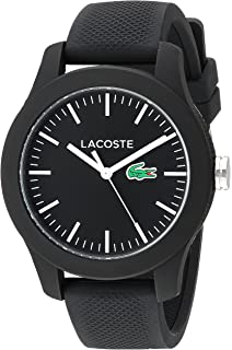 7663db0582 Amazon.com: Lacoste Women's 'Ladies 12.12' Quartz Resin and Silicone ...