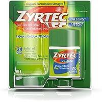 Zyrtec Prescription-Strength Allergy Medicine Tablets With Cetirizine, 70 Count, 10 mg
