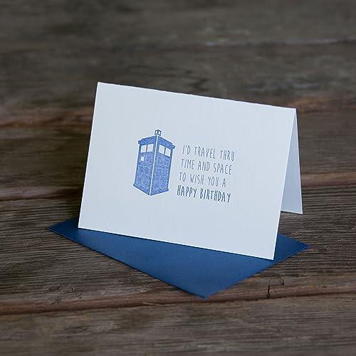 Amazon Doctor Who Birthday Card Letterpress Printed Eco