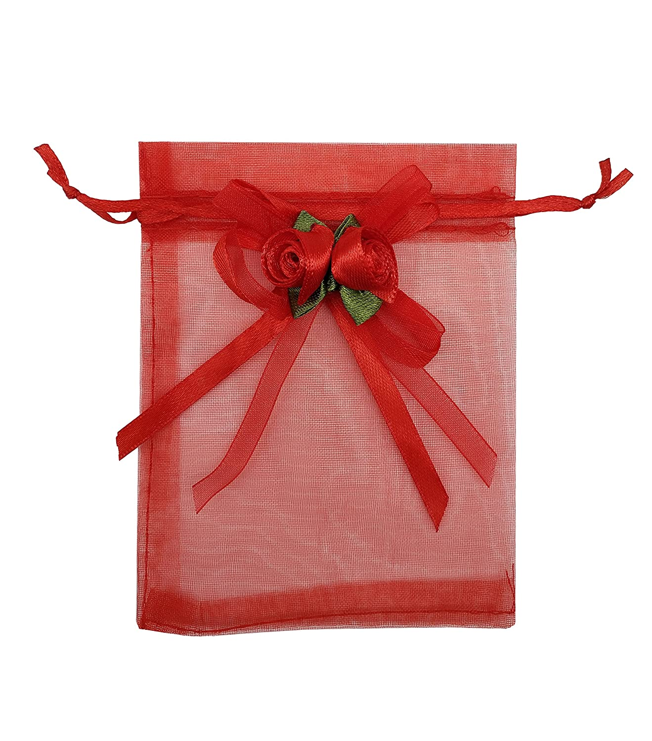 Amazon.com: Ankirol 20pcs Sheer Organza Favor Bags For Wedding 3.8x4 ...