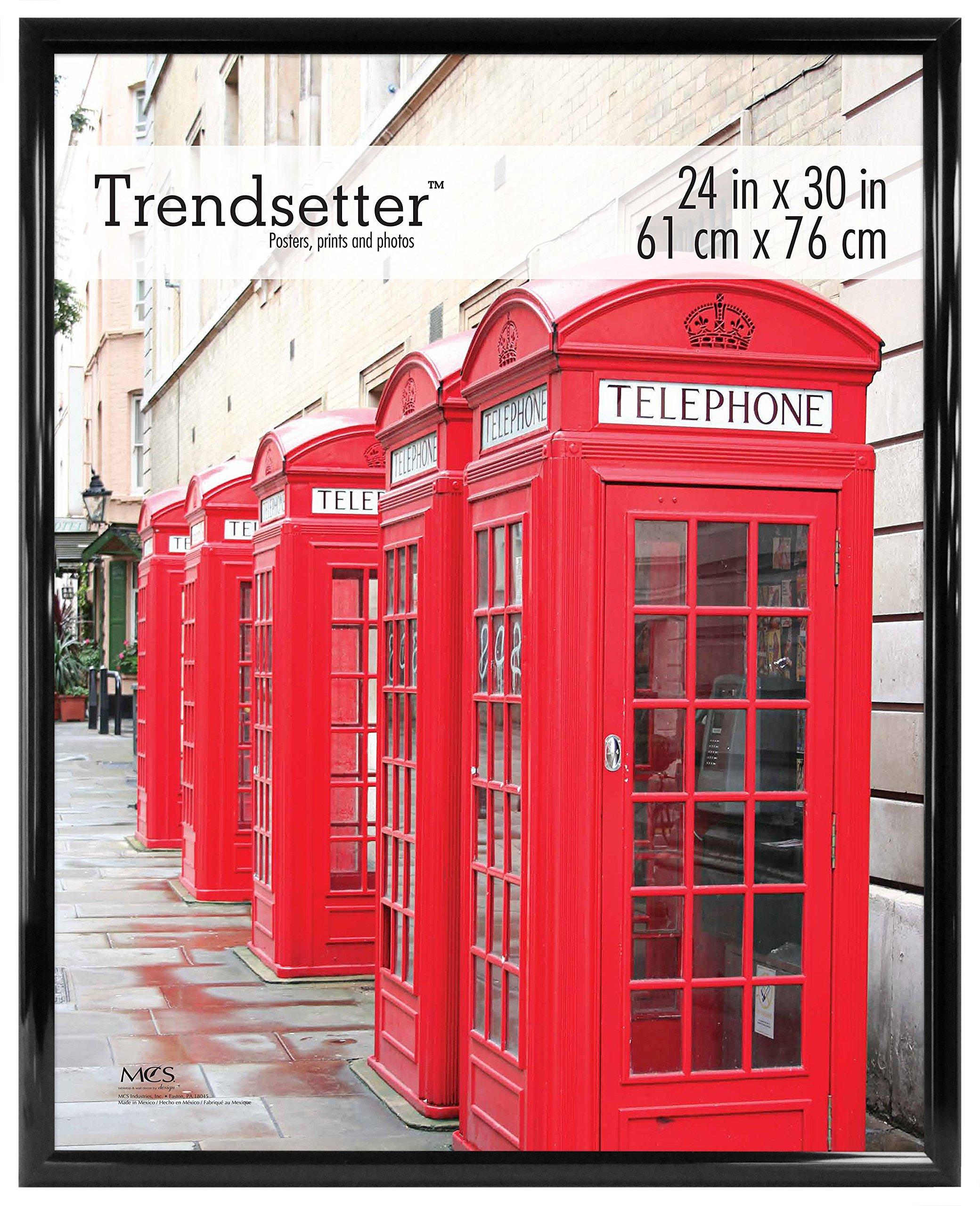 MCS Trendsetter Poster Frame, 24 by 30-Inch, Black, 1-Pack,