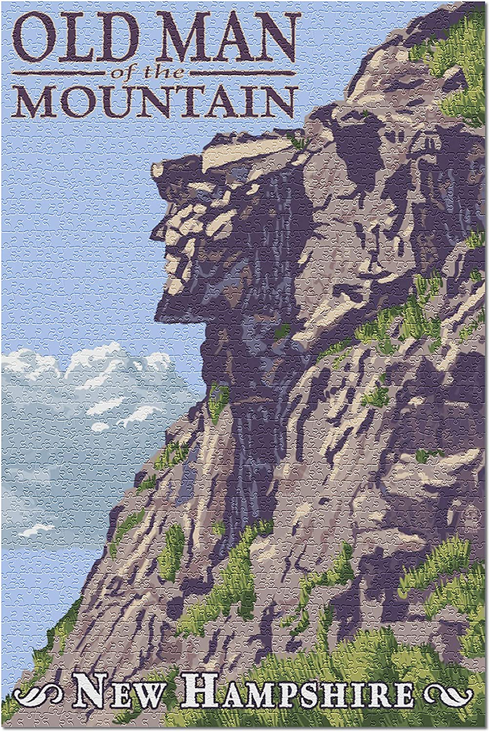 New Hampshire - Old Man of the Mountain 34129 (19x27 Premium 1000 Piece Jigsaw Puzzle for Adults, Made in USA!)