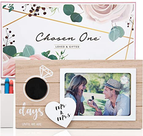 Engagement Gift For The Future Mrs. Gift For Newly Engaged Couple She Said Yes Engagement Picture Frame Bride To Be Gift