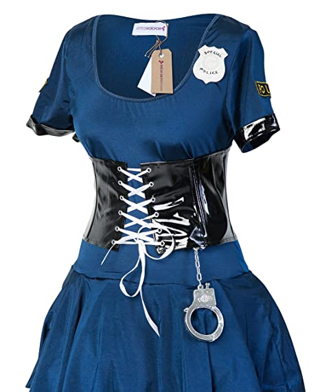 new styles 990a5 d24e1 Emmas Wardrobe Cop Sexy Costume costume di polizia con il ...
