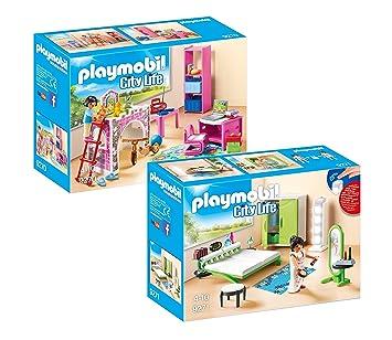 PLAYMOBIL Modernes Wohnhaus Möbelset: 9270 Fröhliches ...