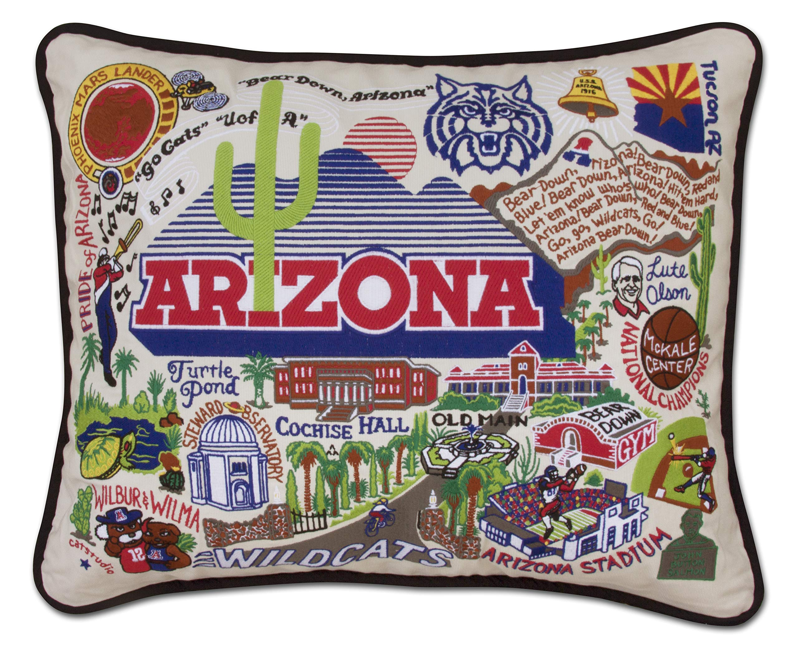 Catstudio- University of Arizona Embroidered Throw Pillow - 16'' x 20''