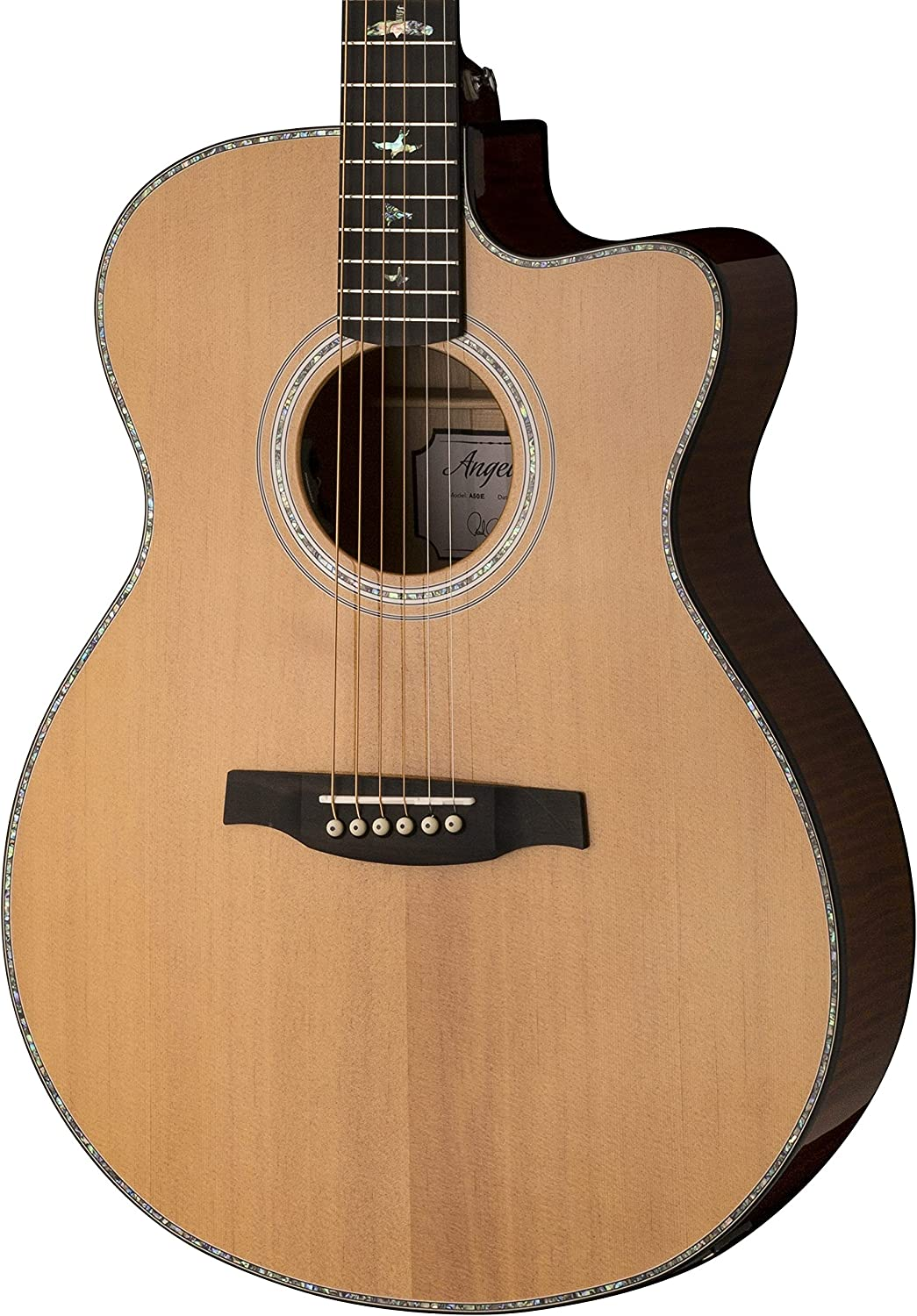 PRS Paul Reed Smith SE Angelus A50E Full Size Single Cutaway Acoustic/Electric Guitar with Hard-Shell Case