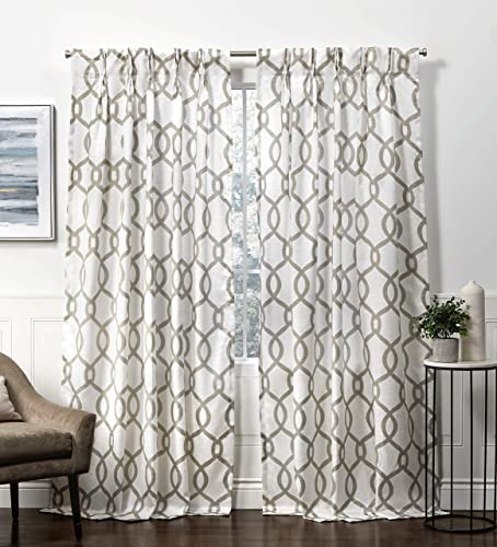 Exclusive Home Curtains Kochi Pinch Pleat Curtain Panel