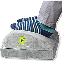 ErgoFoam Adjustable Desk Foot Rest for Added Height - Orthopedic Teardrop Design - Large Premium Foot Rest Under Desk…