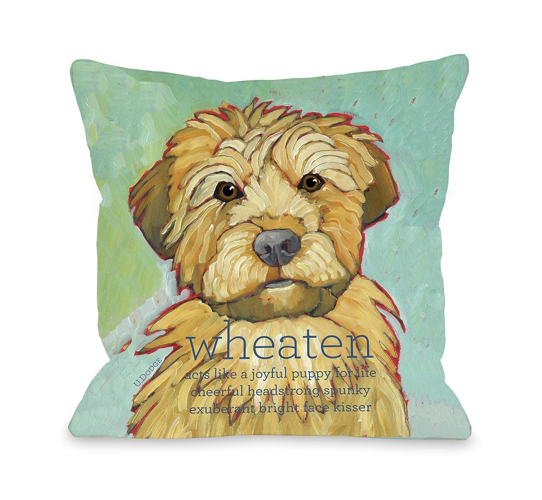 Bentin Pet Decor Wheaten 1 Pillow, 26 by 26-Inch