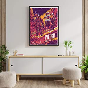 Compatible with Phish American Rock Band Music Musicians Poster Cool Guys Girls Dorm Wall Decor, Unique Design, Unframed Wall Art, Size - 11