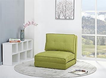 Bettsessel Schlafsessel schlafsessel gästebett jugendsessel bettsessel stoffbezug grün groß