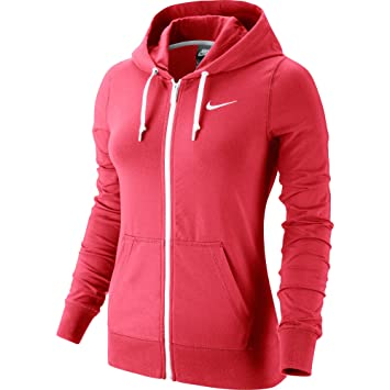 Nike Jersey FZ Hoody Sudadera Deportiva, mujer, Jersey Fz Hoody, Daring Red/White, S: Amazon.es: Deportes y aire libre