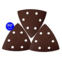 50pieza triángulos de lija con velcro 93x 93x