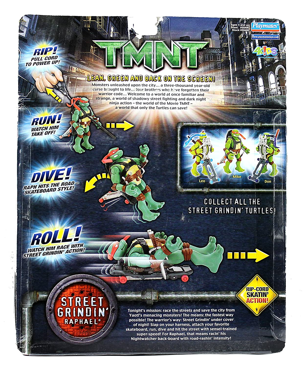 Amazon.com: PlayMates Año 2006 Teenage Mutant Ninja Turtles ...