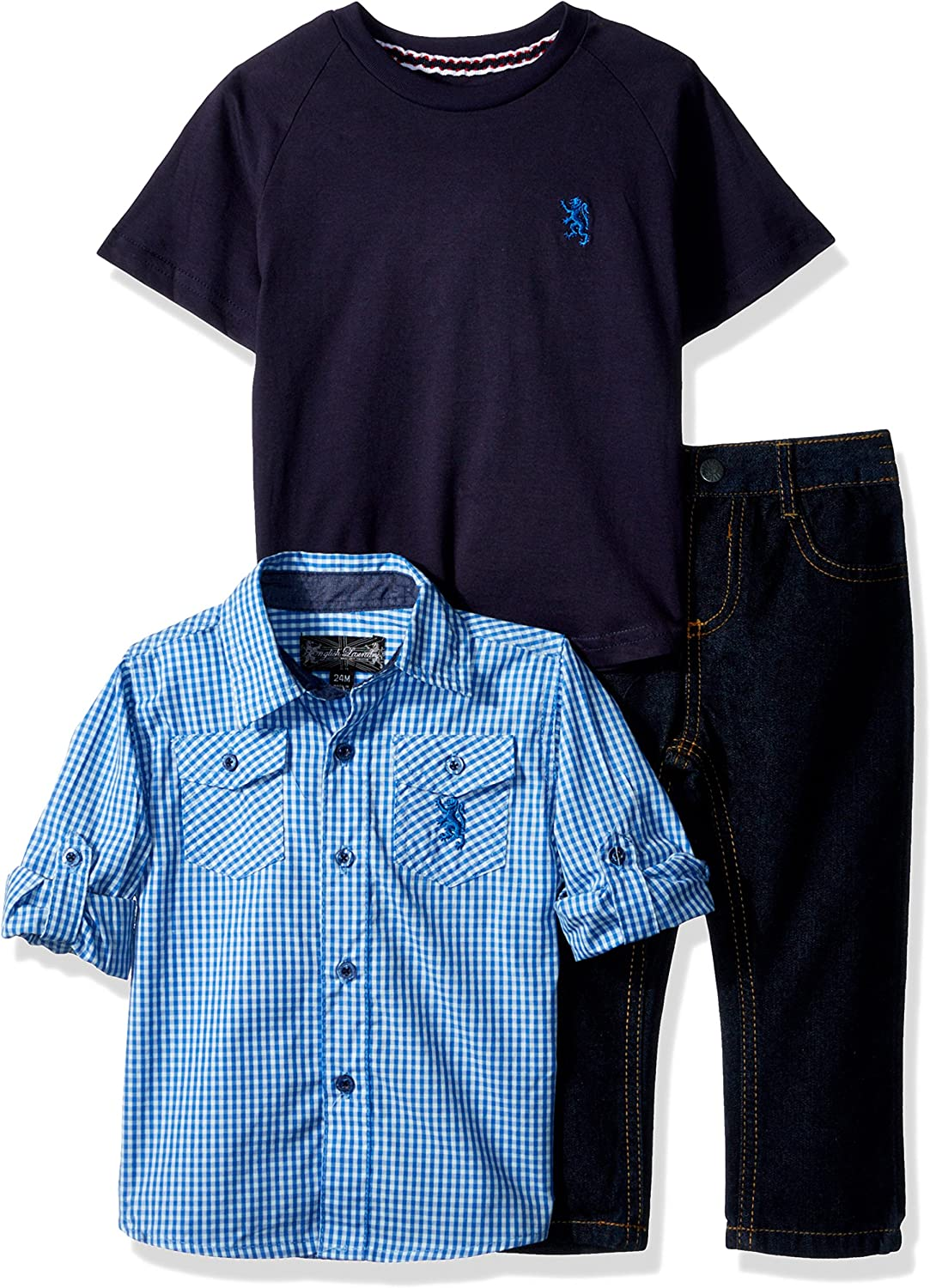 English Laundry Baby Boys Long Sleeve, T-Shirt and Pant Set (More Styles)