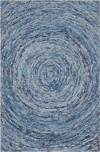 Safavieh Ikat Collection IKT633A Handmade Dark Blue and Multi Premium Wool Area Rug 2 x 3