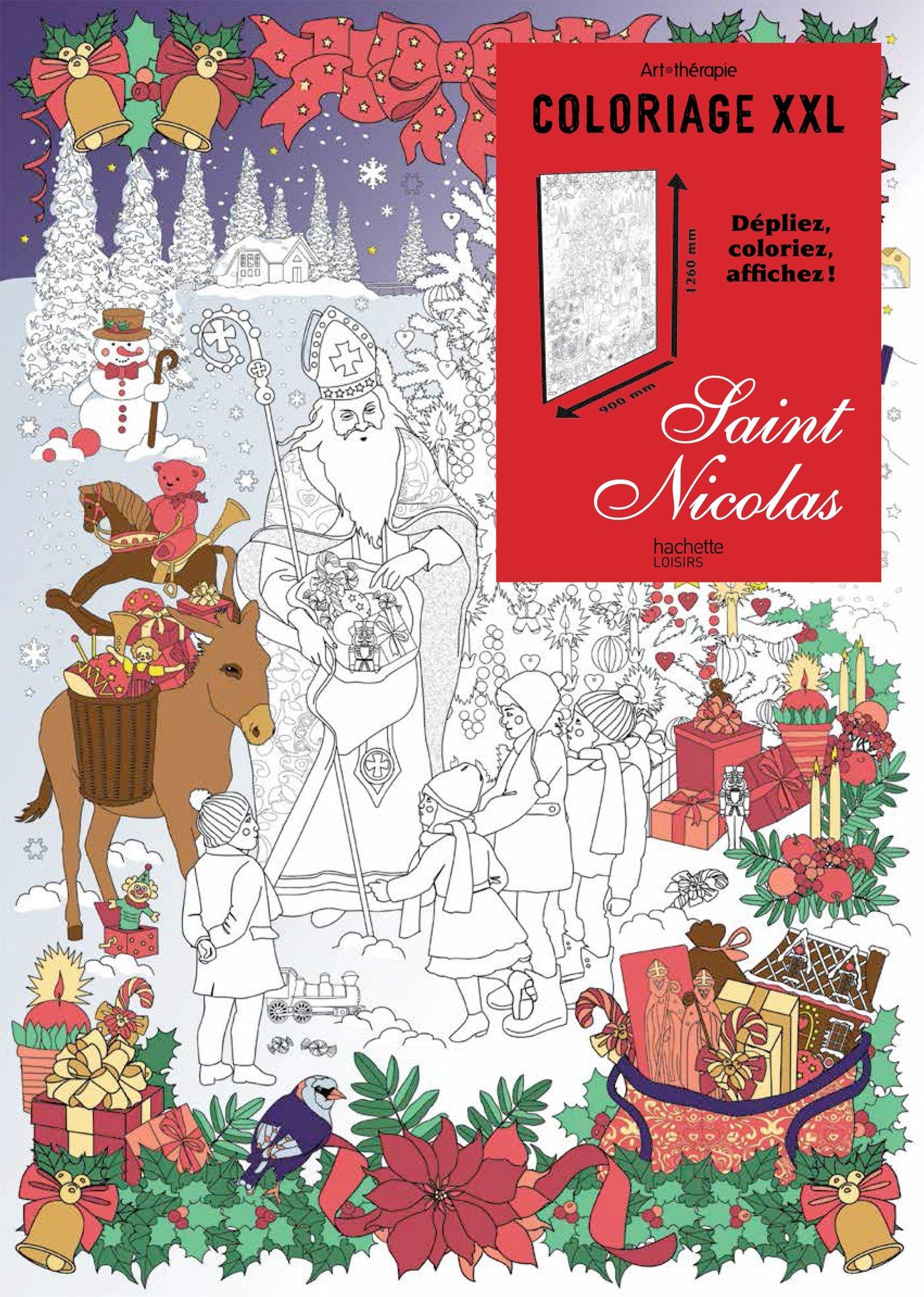 Coloriage Xxl Saint Nicolas Loisirs Sports Passions Kostanek Lidia 9782010090974 Amazon Com Books