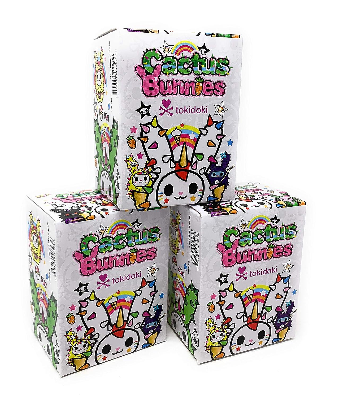 Tokidoki Cactus Bunnies Series 1 Collectible Vinyl Figure Pack of 3