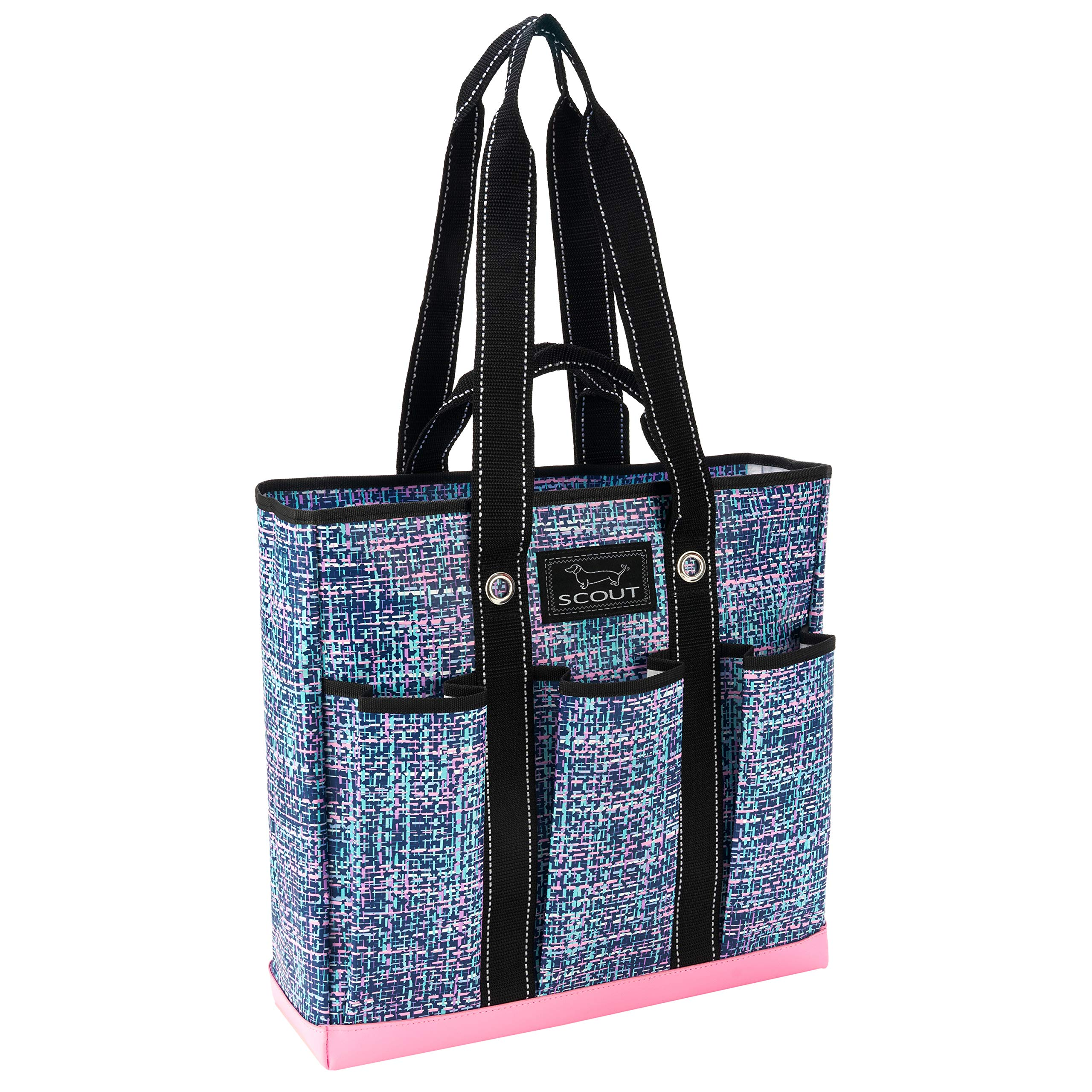 SCOUT Pocket Rocket Multi-Pocket Tote Bag, 6 Exterior Pockets, Water Resistant, Tweedy Bird
