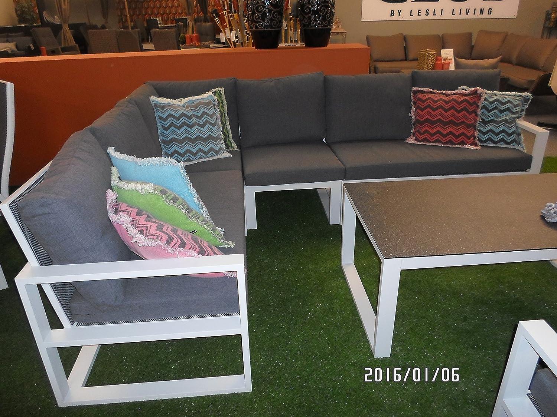 Lounge Eckbank Couch Serie Pina Colada hellgrau/anthrazit hochwertig